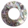 Shell Pendant 25mm Ring Shape Abalone